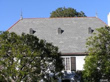 Roof with gray shingles