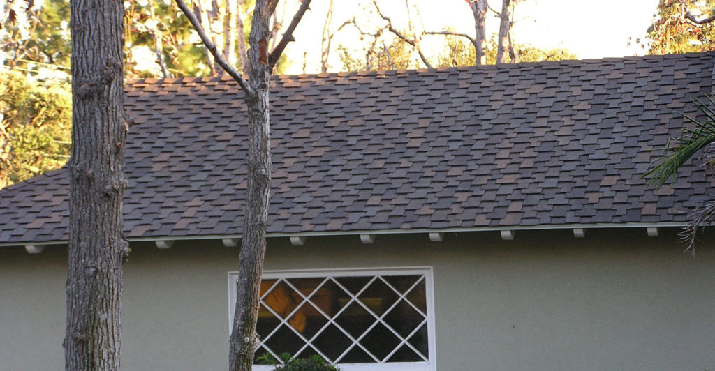 Roof with attractive asphalt shingles.