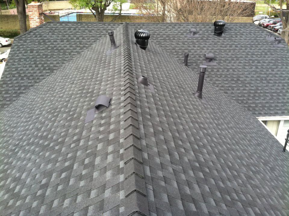 Residential roof by Garvey Roofing