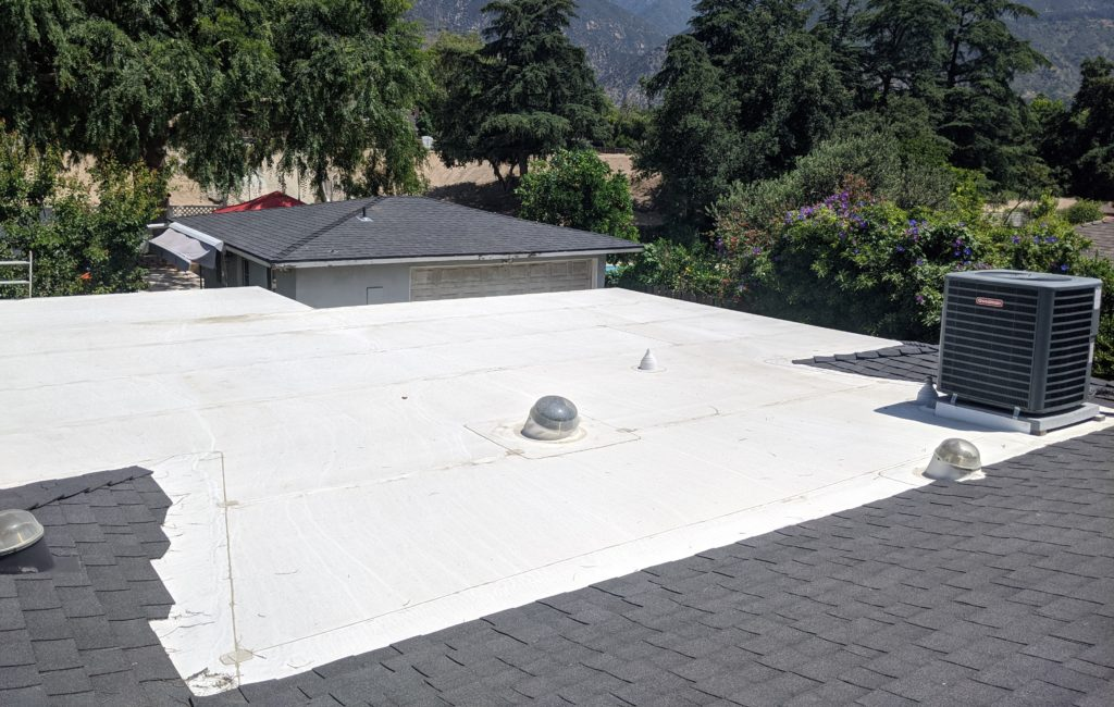 White low slope roofing material