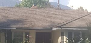 Roof with San Gabriel Mtns in background