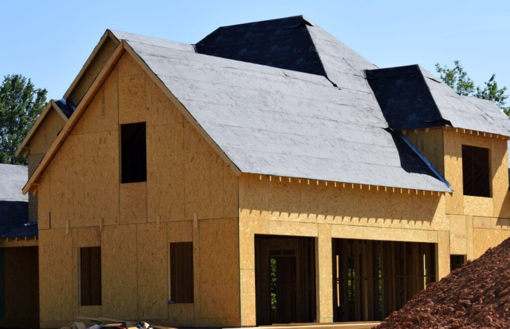 Roofing Underlayment on Home Being Built